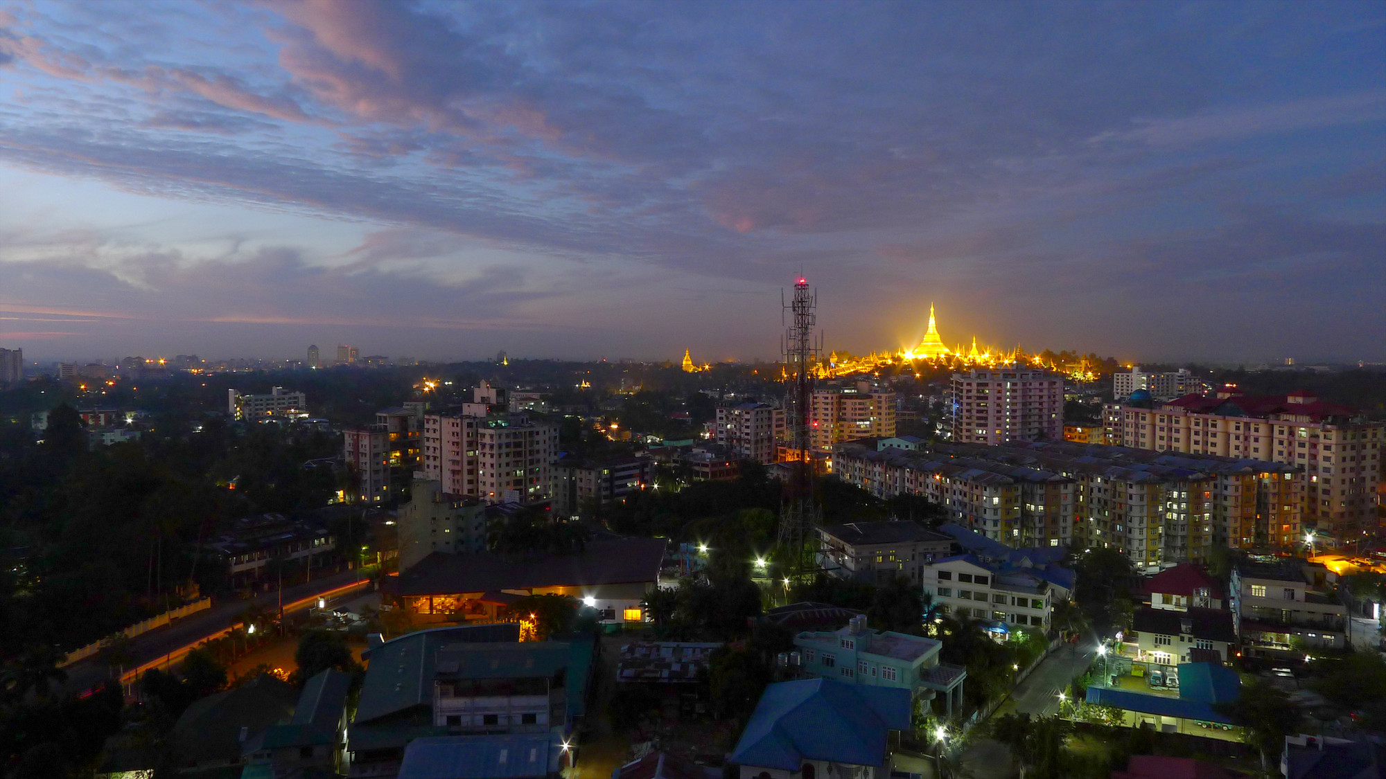 The Race to Save Architecture in Myanmar's Biggest City, View from Golden Hill Towers in Yangon, Myanmar (2010). Image © Flickr CC User Soe Lin