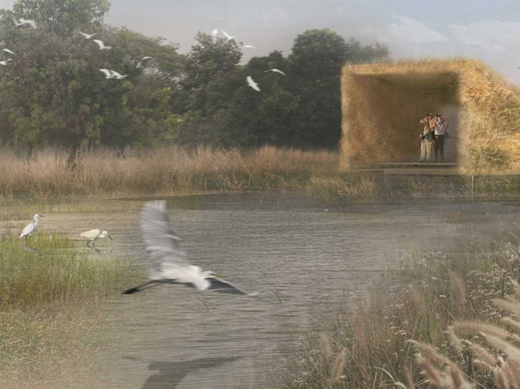 "13 Projects Win Regional Holcim Awards 2014 for Asia Pacific, GOLD: ""Protective Wing"" Bird Sanctuary . Image Courtesy of Holcim Foundation"