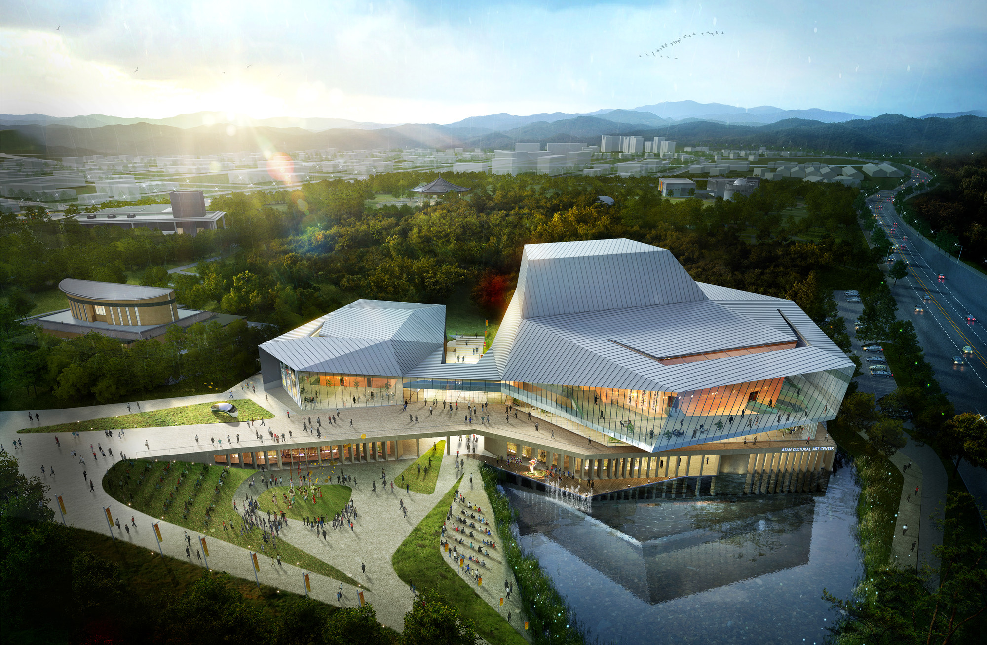 designcamp moonpark dmp Wins Competition for Asan Cultural Arts Center