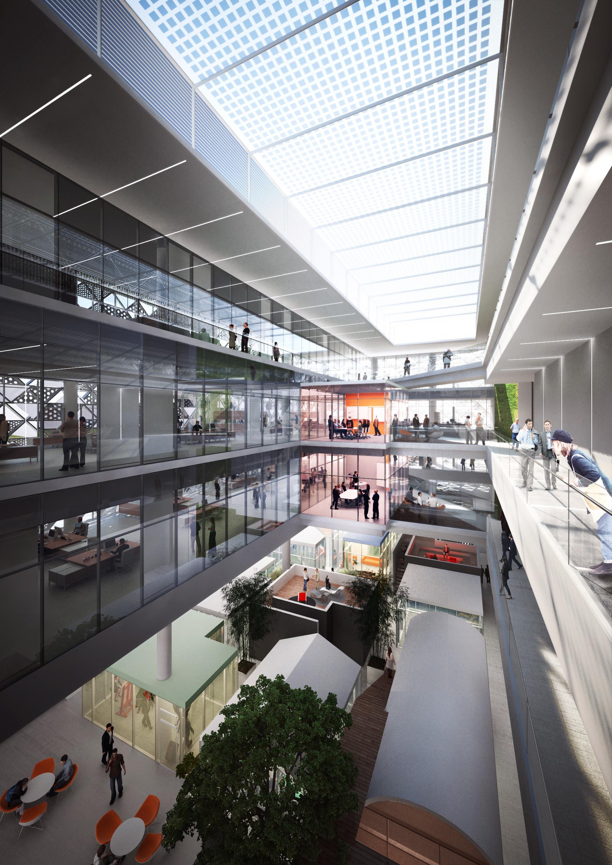HAEAHN and Haenglim Take Second Place in KOMIPO Power Plant Design  Competition,Atrium Interior.