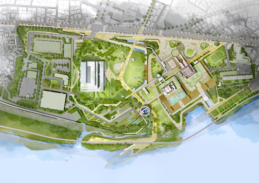 Haeahn and haenglim take second place in komipo power plant design competition archdaily Site plan design