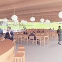 Vista interior del comedor. Imagen Cortesía de Grace Farms y SANAA