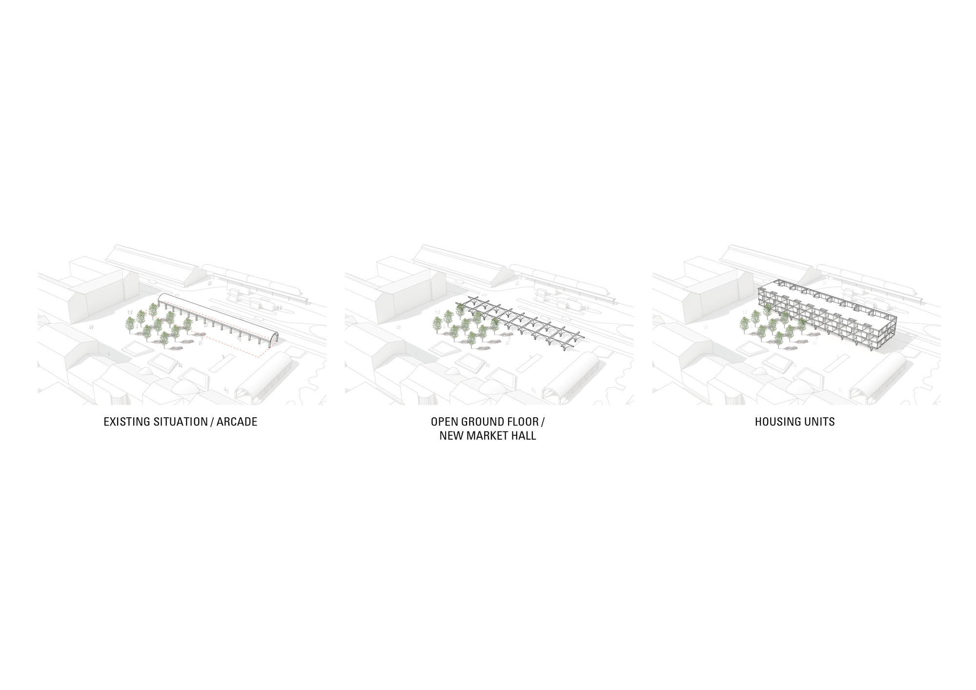 Jaja wins second prize for swedish housing and market hall for Notion architecture