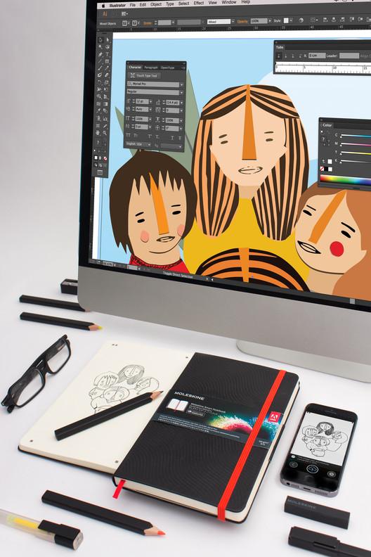 Moleskine y Adobe Creative Cloud unen fuerzas para simplificar flujos de trabajo, Cortesía de Moleskine / Adobe