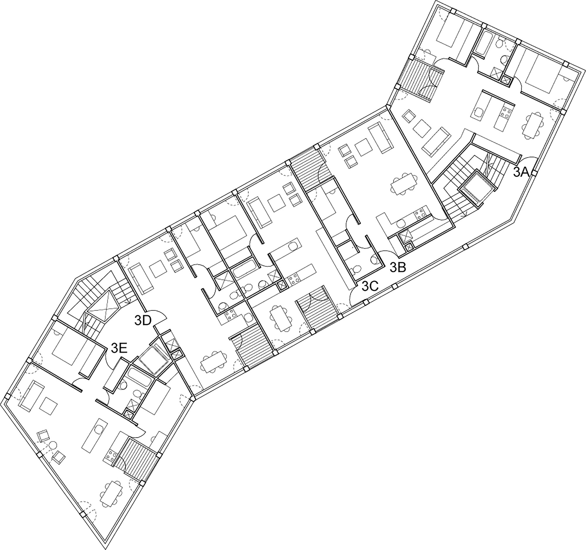 Gallery of affordable housing at the edge of the city for Affordable housing floor plans