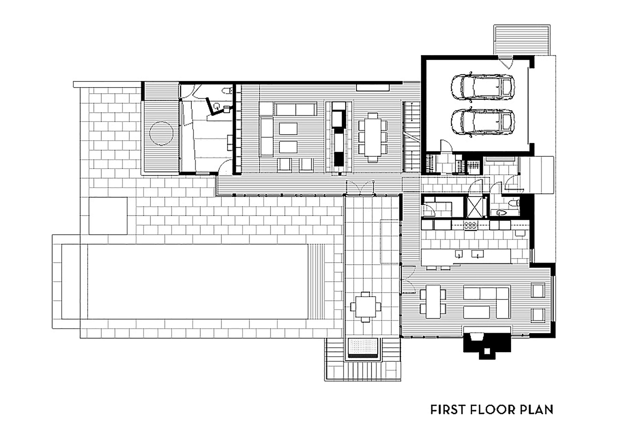 Gallery of brandywine house robert m gurney architect 23 for Planos de piscinas de concreto