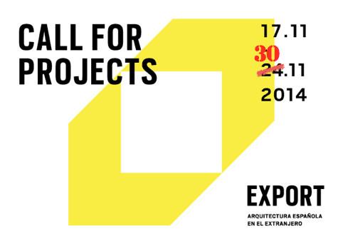 """Convocatoria """"EXPORT: arquitectura española en el extranjero"""""""