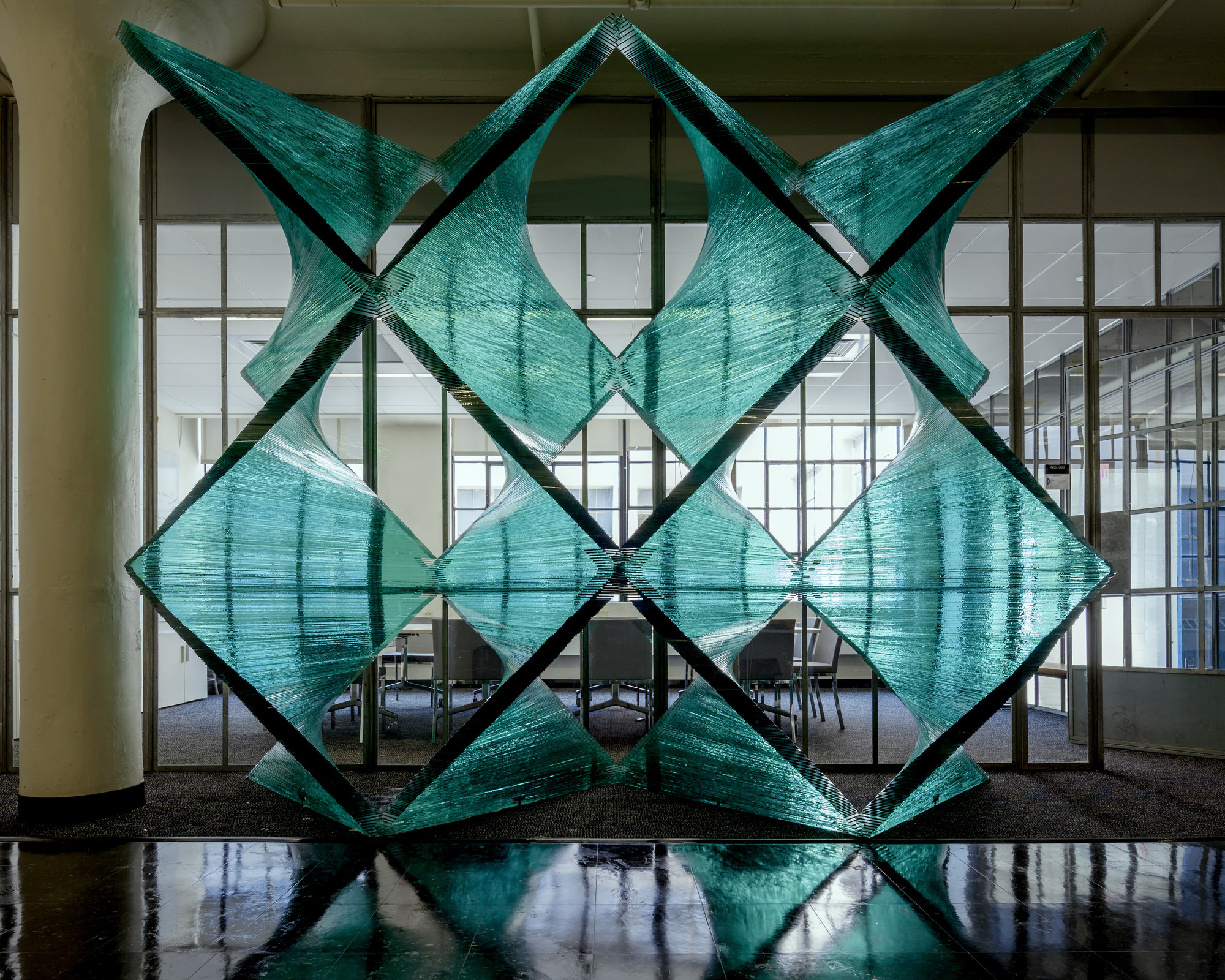 Cristina Parreño Investigates the Tectonics of Transparency With Glass Wall Prototype, © Jane Messinger