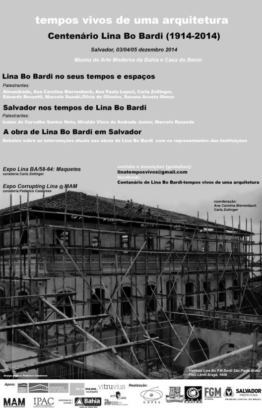 """Evento: """"Centenário de Lina Bo Bardi - Tempos Vivos de uma Arquitetura"""""""