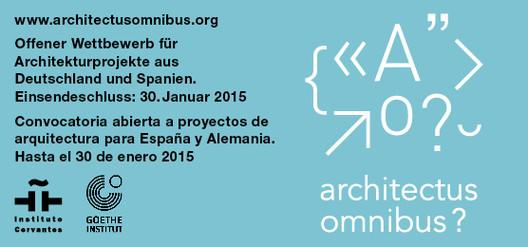"""Convocatoria abierta del VI Encuentro Hispano-Alemán de Cultura: """"Architectus Omnibus?"""" / España"""