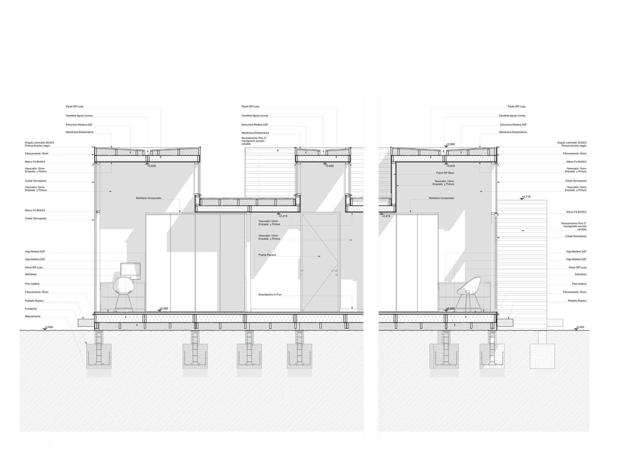 Gallery of sip m3 house ian hs gabriel rudolphy 32 for Sip construction plans