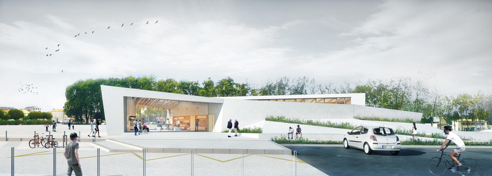 Thibaudeau Architecte & Agence d'Architecture Guiraud-Manenc Design Sculptural Tourism Office in France, © Thibaudeau Architecte & Agence d'Architecture Guiraud-Manenc
