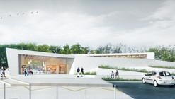 Thibaudeau Architecte & Agence d'Architecture Guiraud-Manenc Design Sculptural Tourism Office in France
