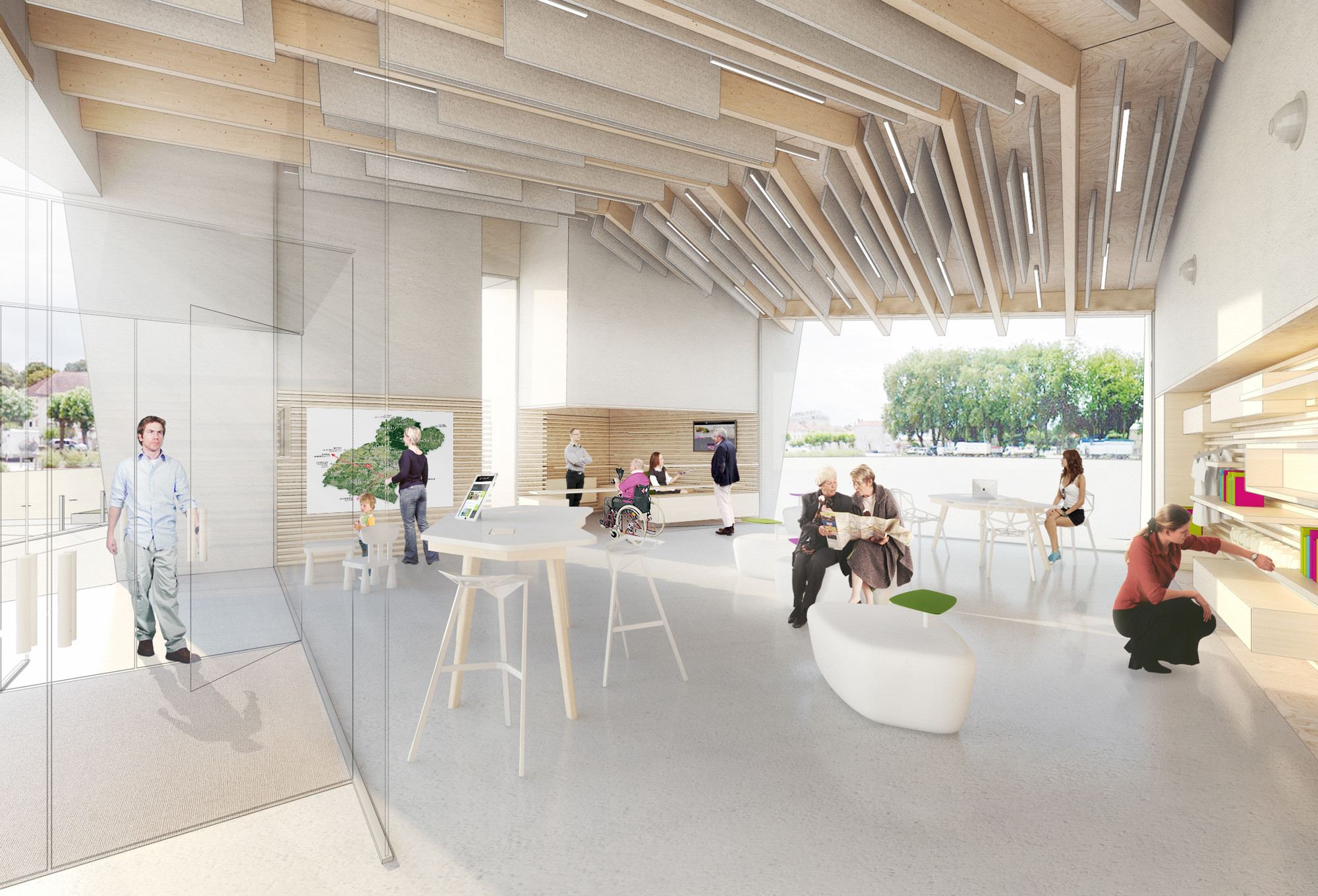 office for design and architecture. Thibaudeau Architecte \u0026 Agence D\u0027Architecture Guiraud-Manenc Design Sculptural Tourism Office In France For And Architecture