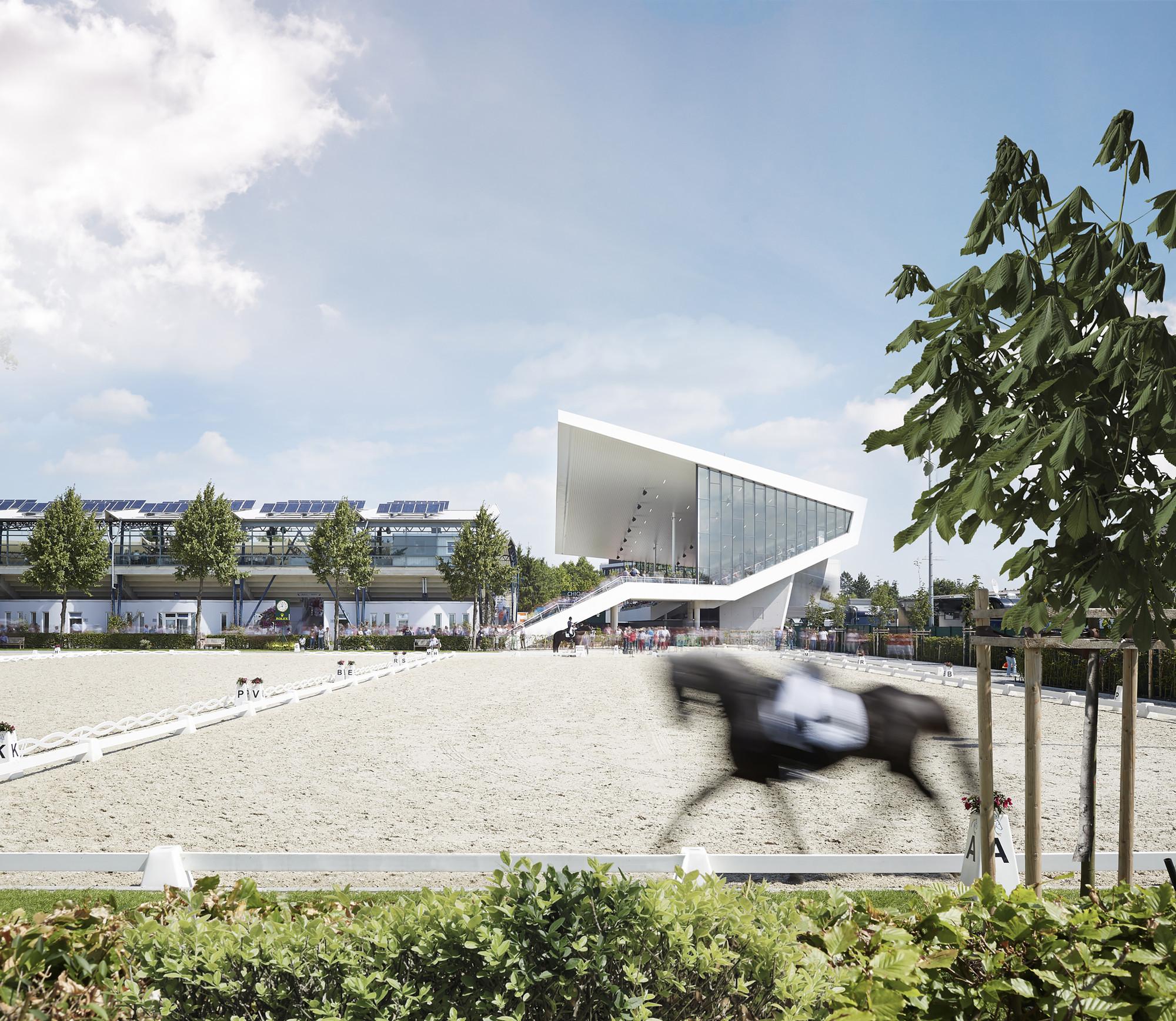 Dressage Arena Extension / Kadawittfeldarchitektur, © Andreas Horsky