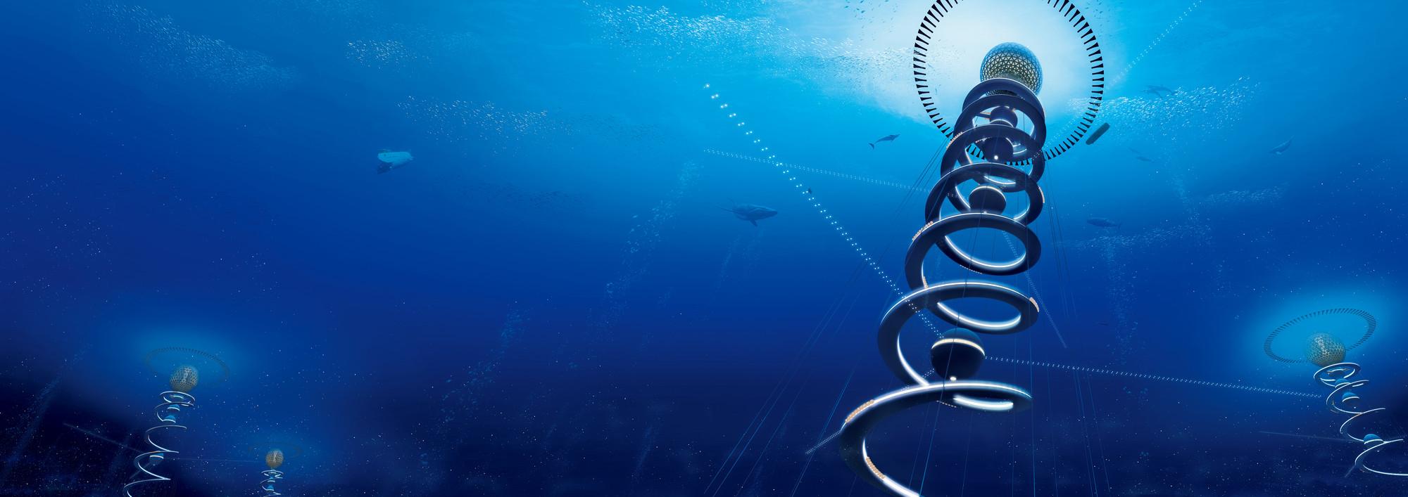 Image result for Shimizu Corporation's 'Ocean Spiral'
