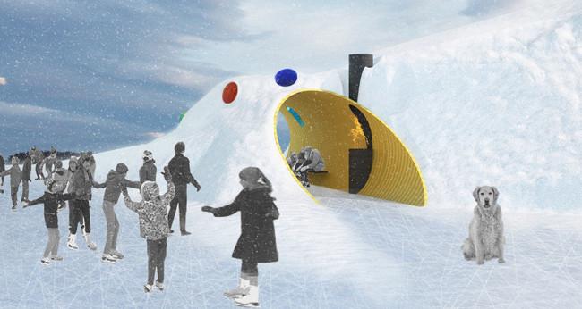 Anunciados os vencedores do concurso Warming Huts v.2015 , Abrigo vencedor: The Hole Idea / Weiss Architecture & Urbanism Limited (Toronto). Cortesia de Warming Huts