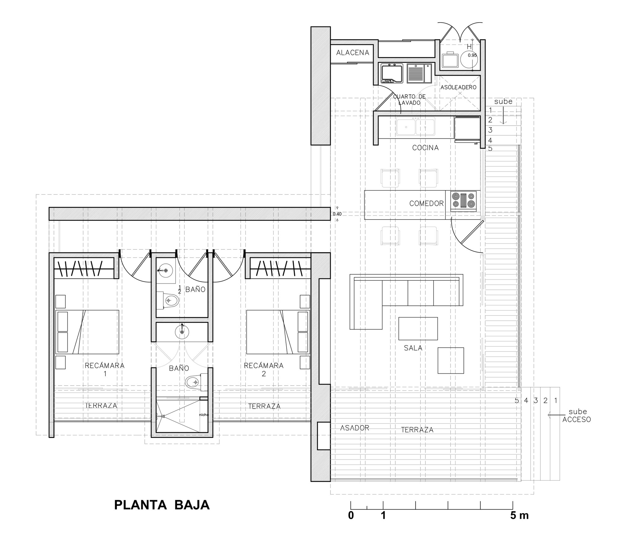 Malinalco house arquitectura alternativa archdaily for Planos de arquitectura pdf