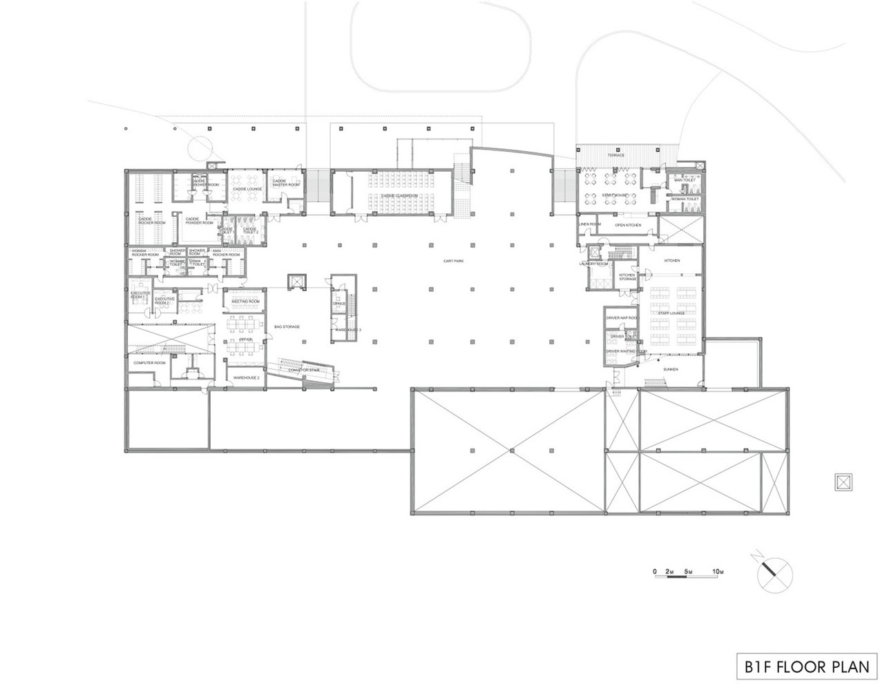 Gallery of Seowon Golf Club House / ITM Yooehwa Architects + ... on golf course design plans, golf course clubhouse design, golf course floor plans, golf course home exteriors tuscan style,