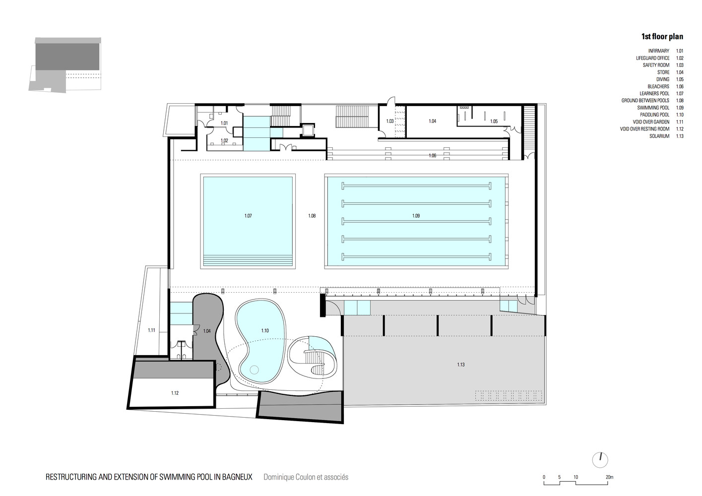 Gallery of Swimming Pool Extension in Bagneux Dominique Coulon – Swimming Pool Site Plan