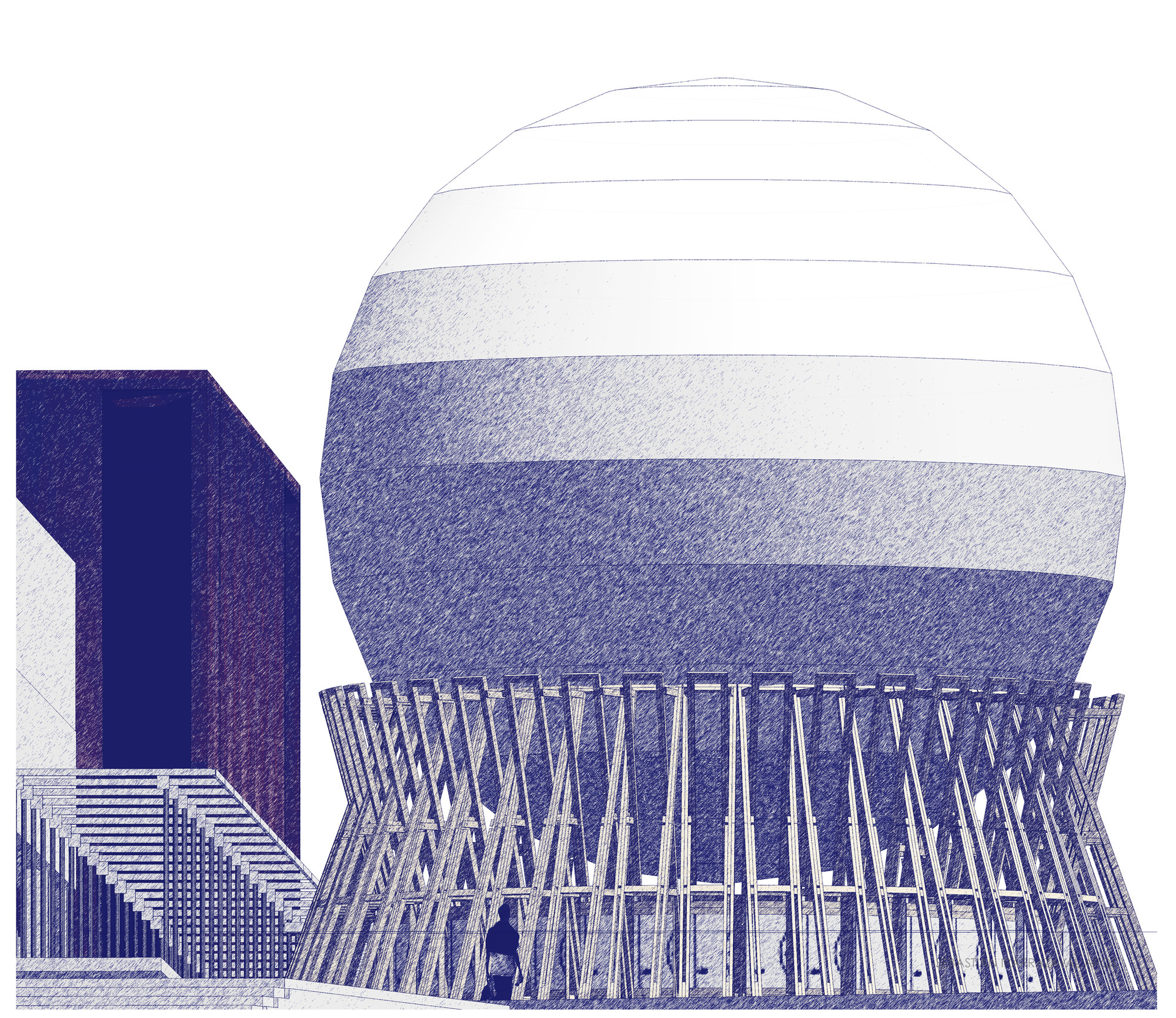 Sebastián Irarrázaval diseña pabellón en madera conmemorando los 120 años de Arquitectura UC, Cortesia de Sebastián Irarrázaval