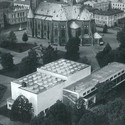 Pre-1940 photograph of the library adjacent to the Viipuri Cathedral. Image Courtesy of The Finnish Committee for the Restoration of Viipuri Library