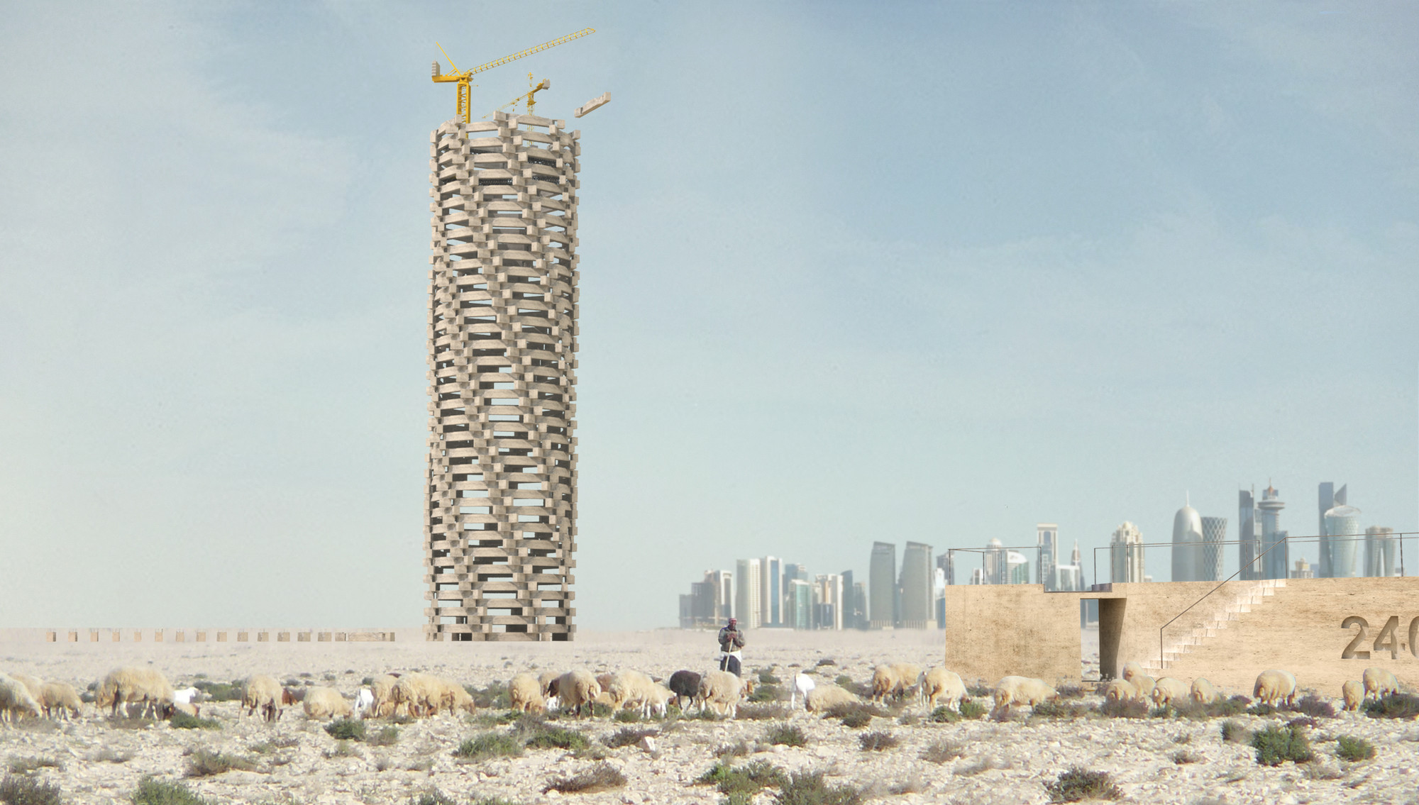 Towering Folly: As Qatar's Death Toll Rises, So Does This Monument, Courtesy of 1week1project