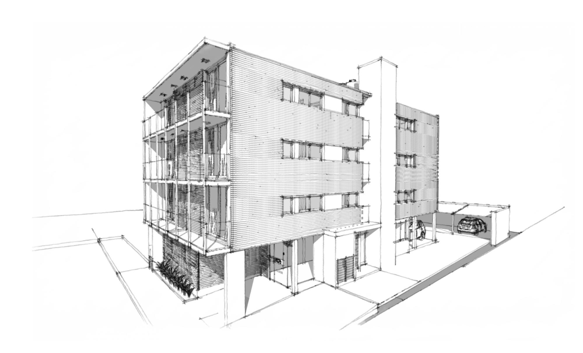 Edificio b928 claudio walter arquitectos asociados - Que es un porche en arquitectura ...
