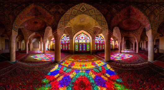 Mezquita Nasir Al-Mulk . Image Cortesia de Mohammad Reza Domiri Ganji
