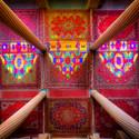 Columnas y colores. Image Cortesia de Mohammad Reza Domiri Ganji