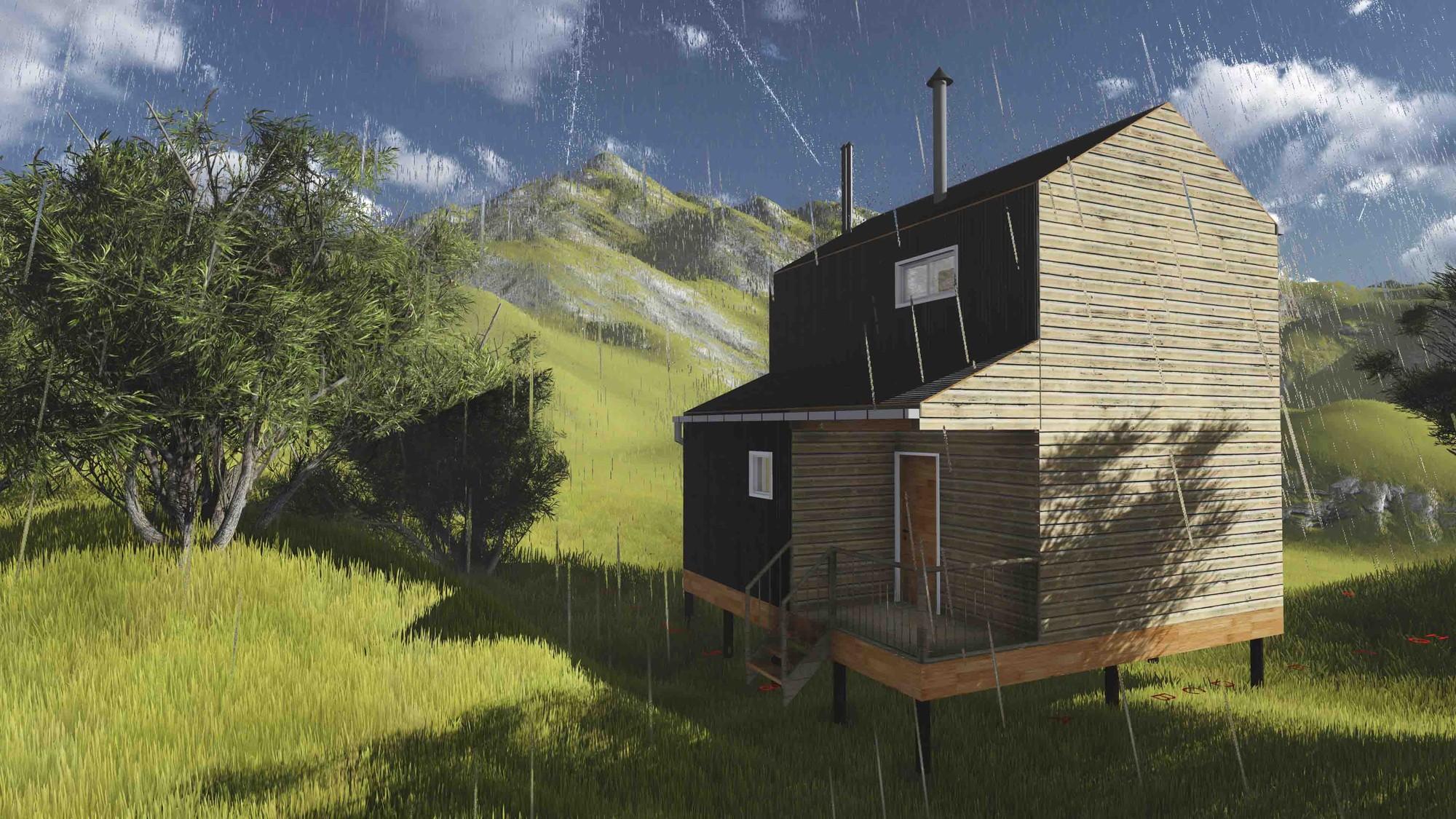 Grupo Amakaik, Mención Honrosa en Concurso de diseño de vivienda social sustentable en la Patagonia / Aysén, Chile, Cortesia de Equipo Mención Honrosa
