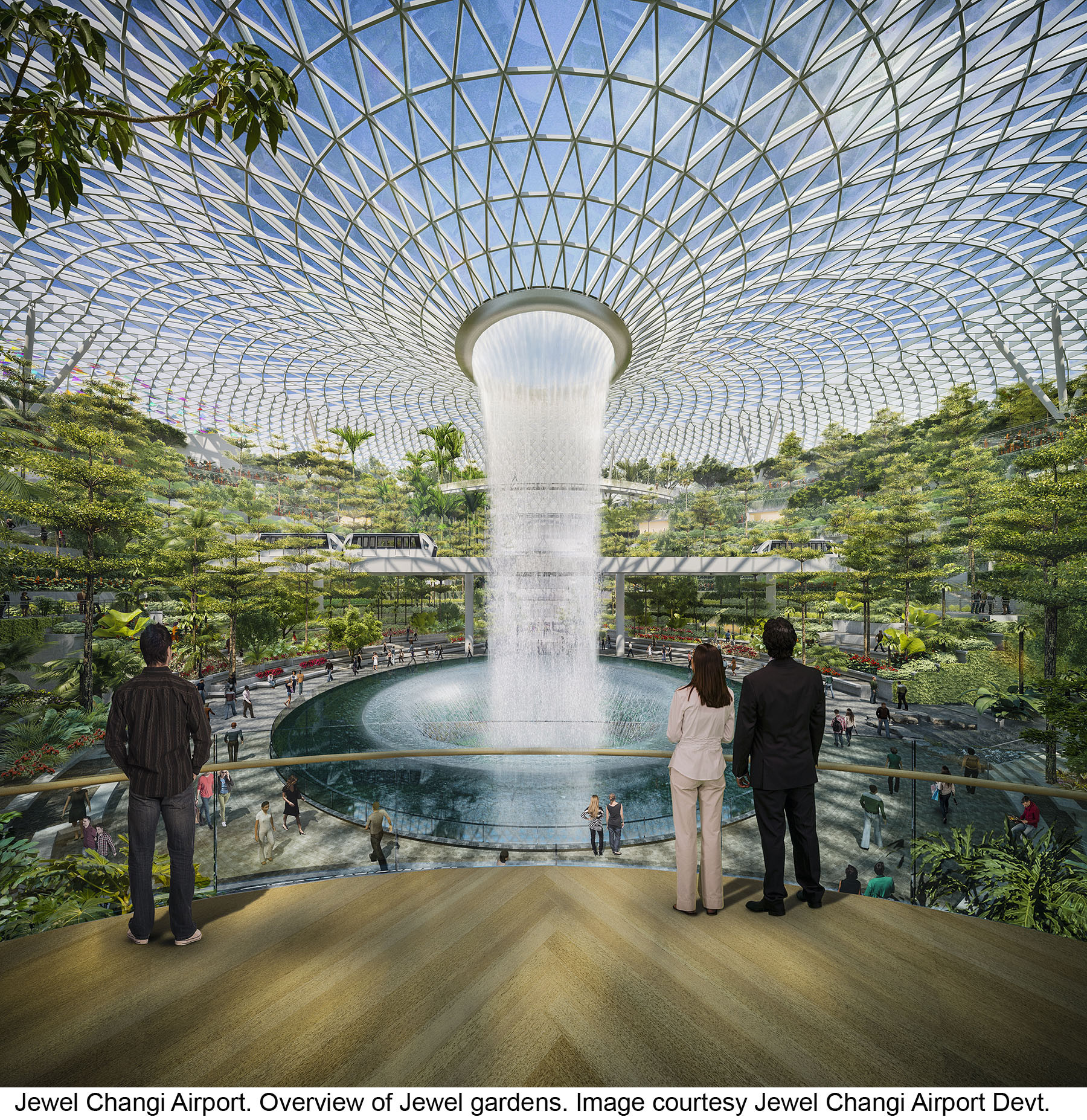Gallery of safdie architects design glass air hub for for Indoor gardening singapore