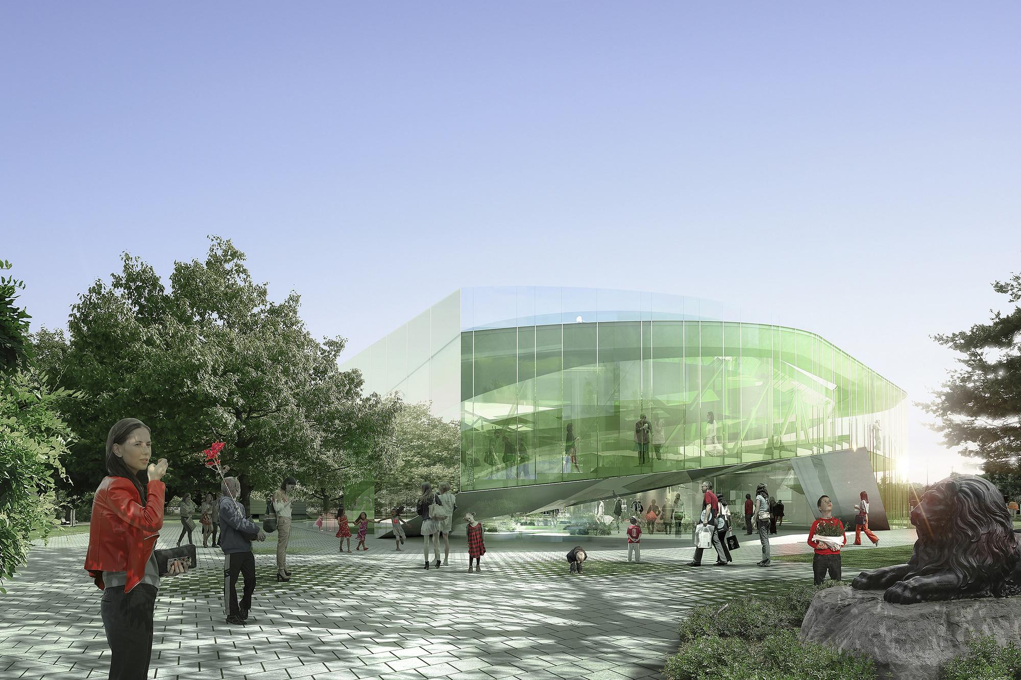 Competition Entry: Saucier + Perrotte Designs Glass Pavilion for Montreal Botanical Garden, © Saucier + Perrotte Architectes / Luxigon / Michel Desvigne Paysagiste