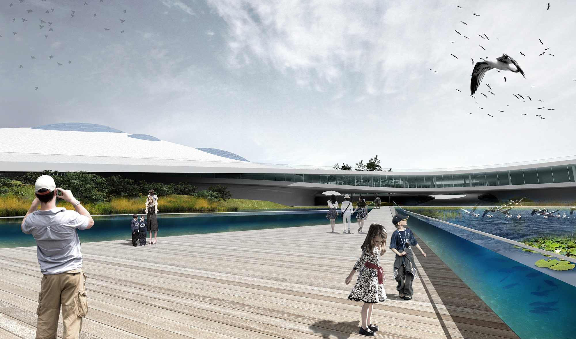 SYAA Designs New Natural Science Museum Complex in Romania, View from Exterior Courtyard. Image Courtesy of SYAA