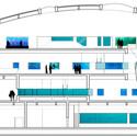 Corte transversal do aquário. Cortesia de SYAA