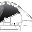 Corte transversal do planetário. Cortesia de SYAA