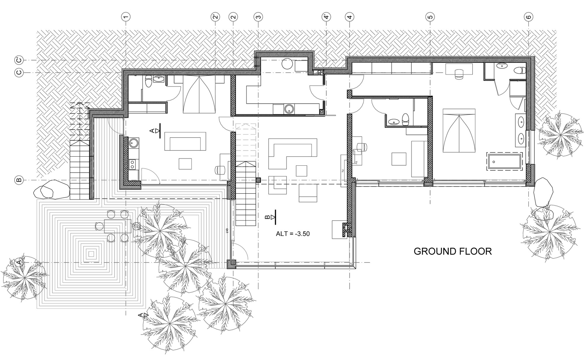 Drawing Room Design Plan