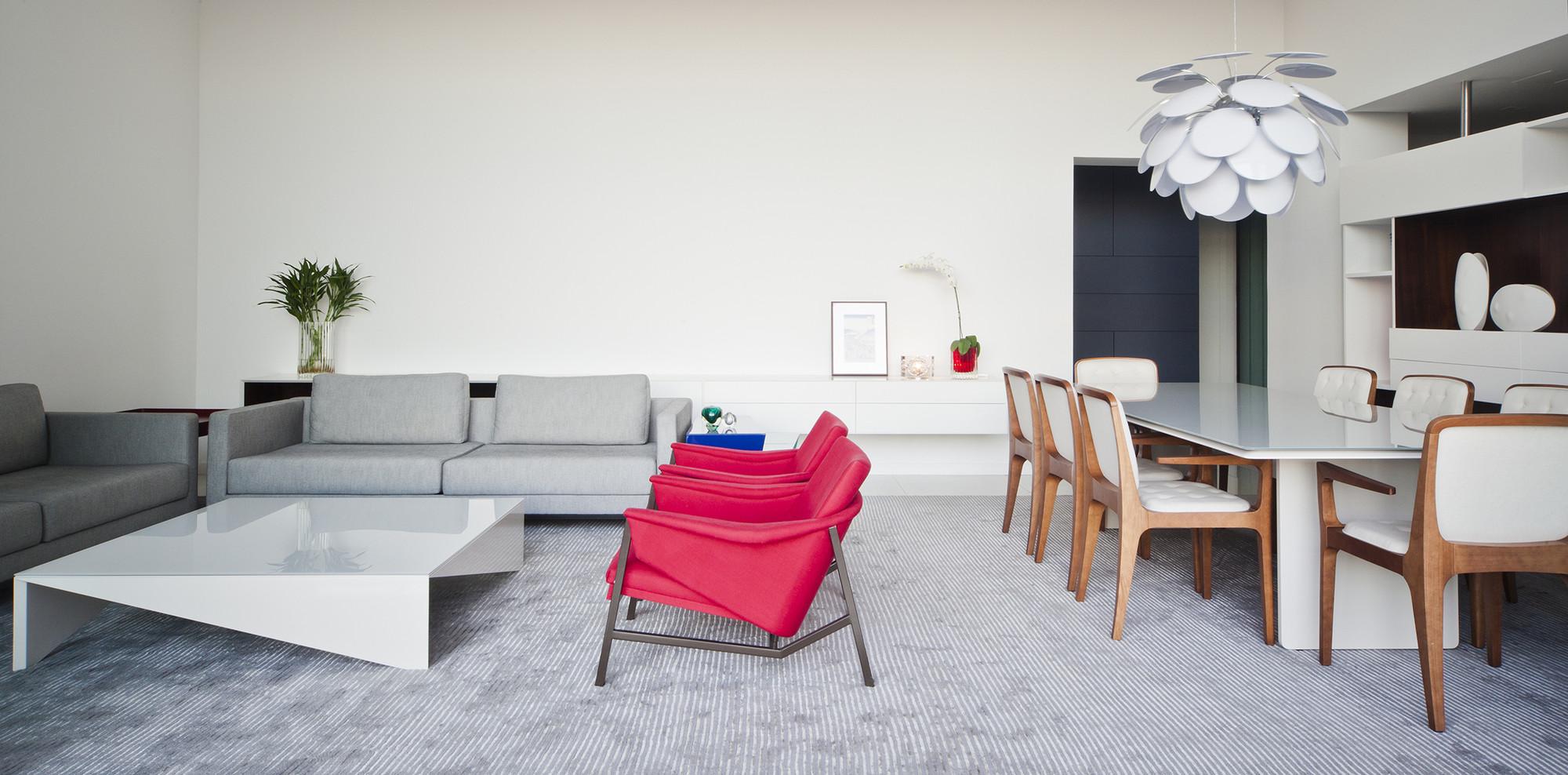Interiores Apartamento Duo RF / Stuchi & Leite Projetos, © Maira Acayaba