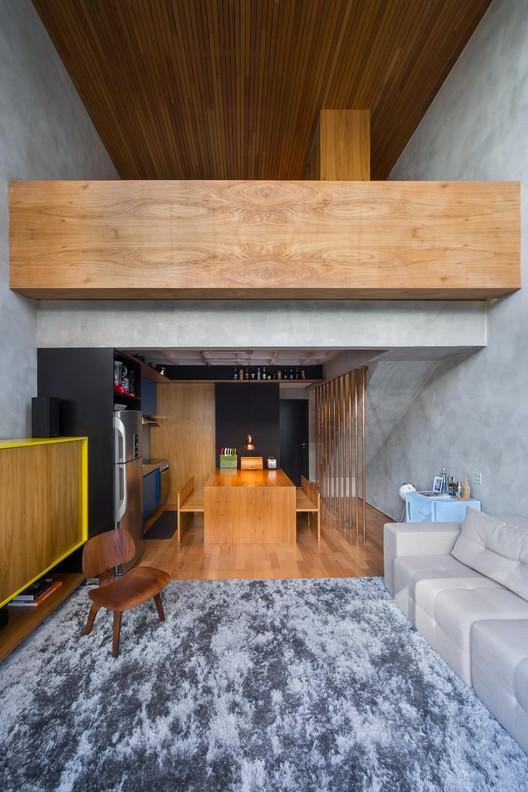 Apartamento cobre/blue / Casa100 Arquitetura, © Quadra 2 Fotografia