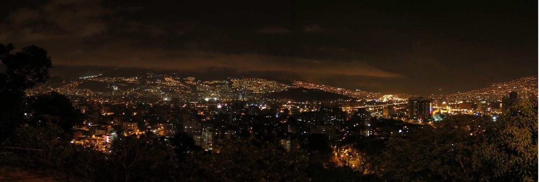 Esbozo de un Plan Maestro de Iluminación para la ciudad de Medellín y el Valle de Aburrá, Colombia, © Pascal Chautard