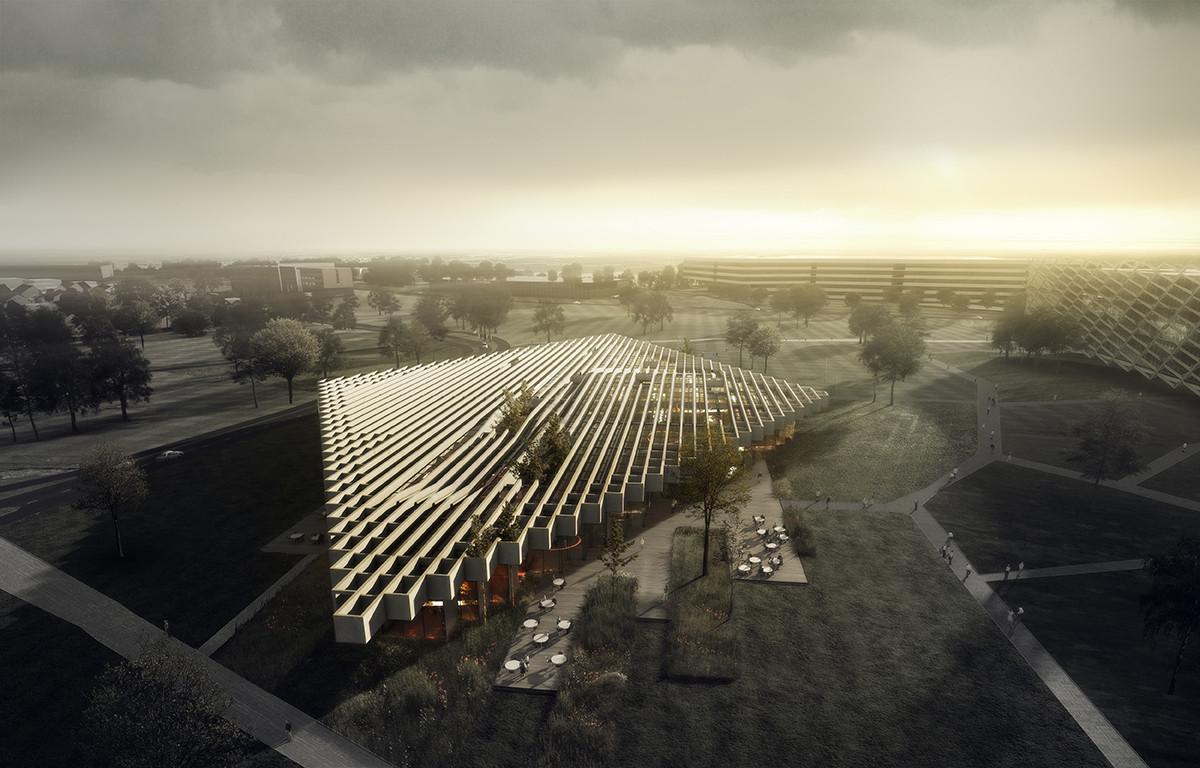 Adidas seleciona COBE para projetar edifício na Alemanha, © COBE