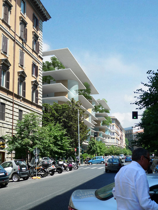 MAD gana su primer proyecto europeo en Roma, View from Street. Image © MAD Architects