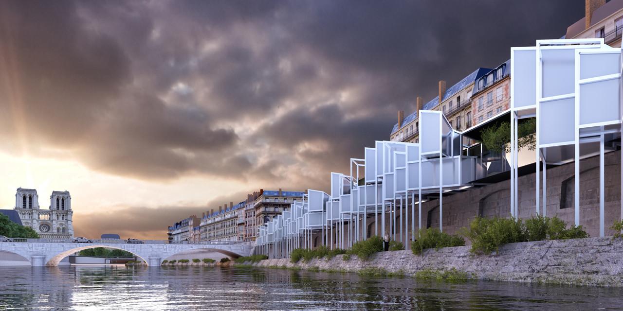Menomenopiu proposes capsule hotel for short term housing for Hotel design paris 8