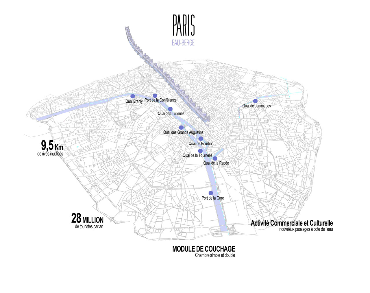 menomenopiu proposes capsule hotel for short term housing in parismap of paris
