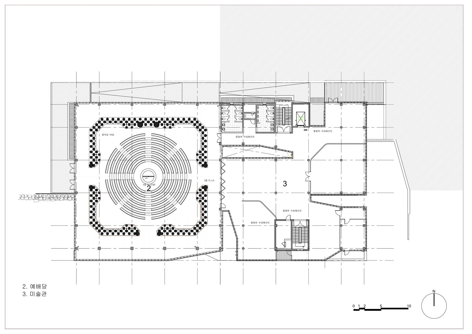 Ordinary Church Of Light Floor Plan Part - 9: Light Of Life Church / Shinslab Architecture + IISAC. 23 / 34. Floor Plan