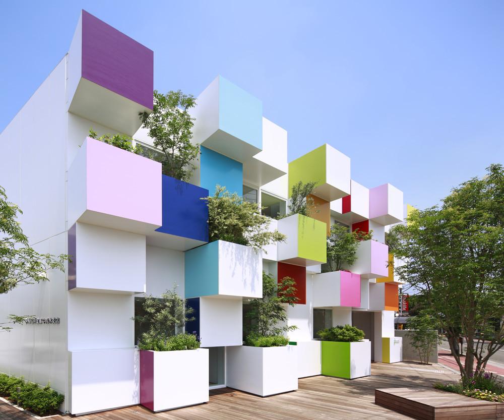 Sugamo shinkin bank nakaaoki branch emmanuelle for Bank designs architecture