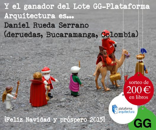 ¡Ya tenemos ganador! Sorteo Navideño Editorial Gustavo Gili + ArchDaily México