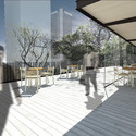 Bar no terraço. Image Cortesia de Hereñú + Ferroni Arquitetos