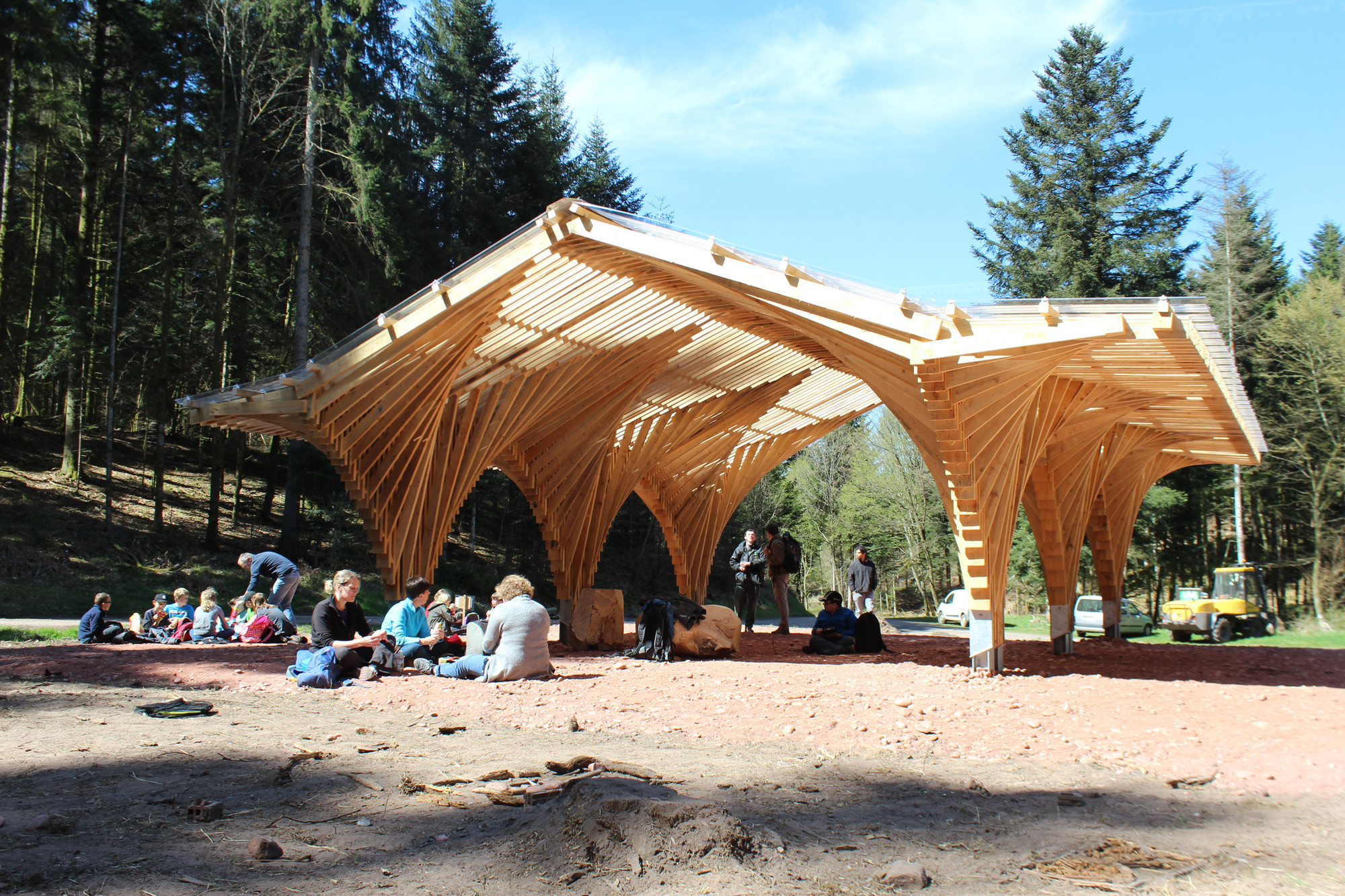 Creation of a Forest Shelter at Bertrichamp / Studiolada Architectes + Yoann Saehr Architect, © Christophe Aubertin