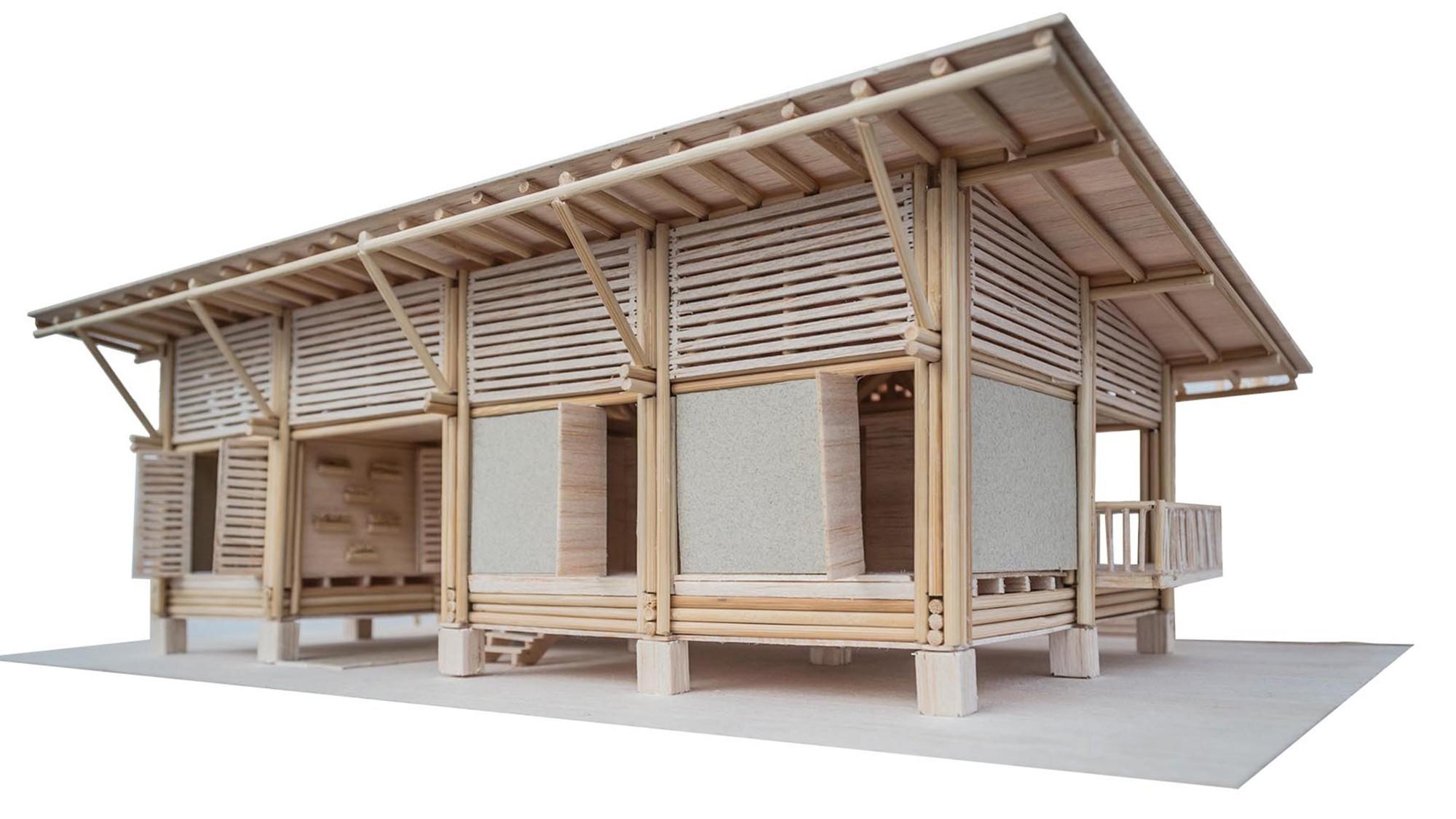 Galeria de casa convento enrique mora alvarado 26 for Small house design made of bamboo
